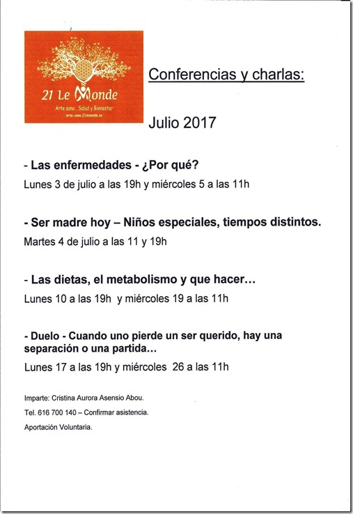 Conferencias - Julio 2017